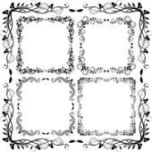 Floral frame — Cтоковый вектор