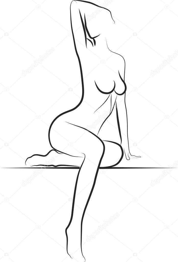 Рисование голой модели 18 фотография