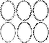 Ornate oval border — Stock Vector