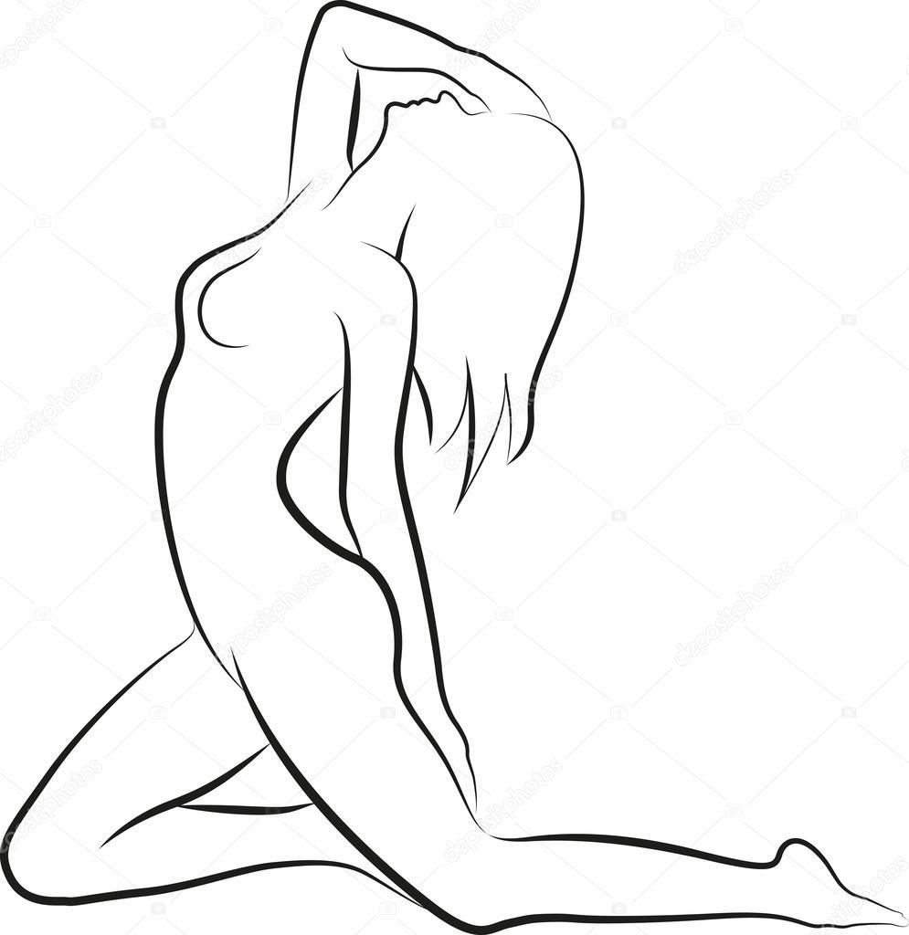 Эскиз голой девушки 3 фотография