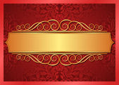 Red and gold background — Stock Vector