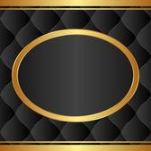 Black gold background — Stock Vector