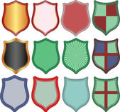 Shields — Stock Vector