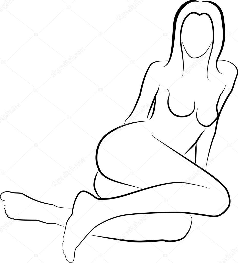 Эскизы голых женщин 23 фотография