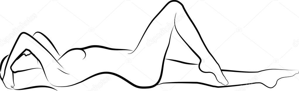 Nude woman — Stock Vector © mtmmarek #15841425