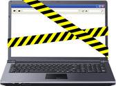 Dangerous laptop — Stock Vector