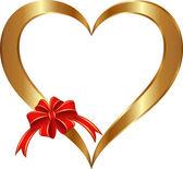 Zlaté srdce — Stock vektor