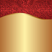 Gold red background — Stock Vector