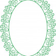 Vector de stock : Frame oval