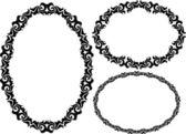 Frames oval — Stock Vector
