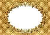 Golden frame — Stok Vektör