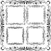 Čtvercové rámce — Stock vektor