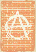 Anarchy sign — Stock Vector