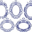 Frames with crown — Stock Vector