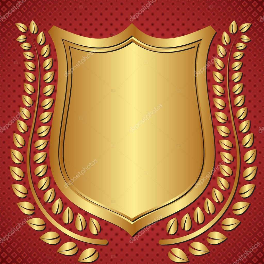 Golden Background Image Golden Background With Shield