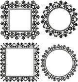 цветочные рамки — Cтоковый вектор