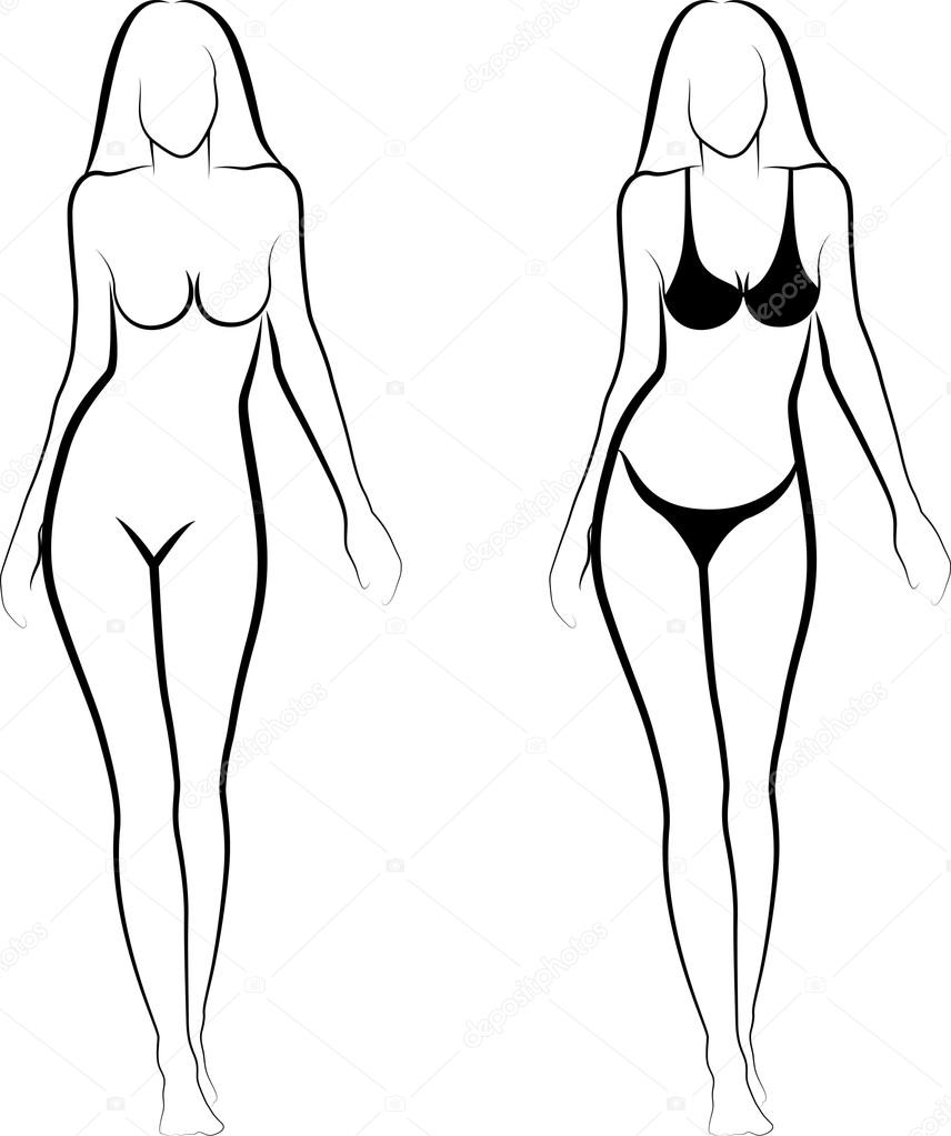 Рисунки обнаженных женских тел 16 фотография