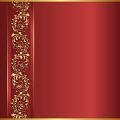 Czerwonym tle — Wektor stockowy
