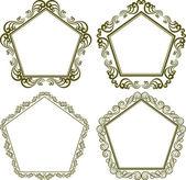 Pentagonal frame — Stock Vector