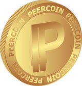 Peercoin — Stock Vector
