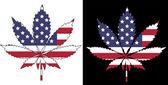 Bandeira americana — Vetor de Stock