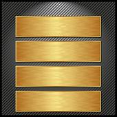 Golden banners — Stock Vector