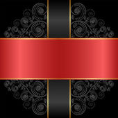 Siyah kırmızı — Stok Vektör