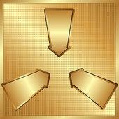Tres flechas — Vector de stock