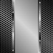 Metallic background — Stock Vector