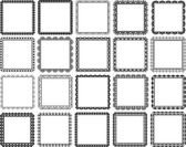 Square frames — Stock Vector