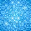 Stock Vector: Background of snow-flakes