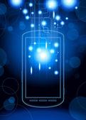 Achtergrond impuls met telefoon — Stockvector