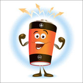 Battery. Cartoon — Vector de stock
