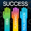 Stock Vector: Business success
