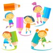 Children pencil — Stock Vector