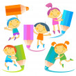 Stock Vector: Children pencil