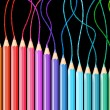 Colored pencils — Stockvectorbeeld