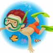 Diving — Stock Vector #30213733