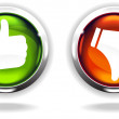 Stock Vector: Like Buttons