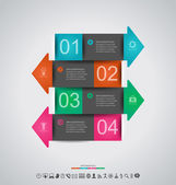 Abstract infographics design — Stock Vector