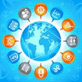 Mundo de negocios — Vector de stock