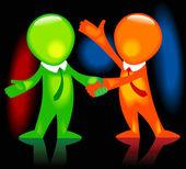 Business hand shake black — Stock Vector