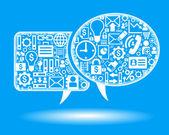 Kurumsal iletişim — Stok Vektör