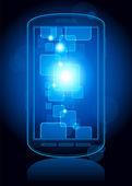 Botões ao telefone de tela de toque — Vetor de Stock