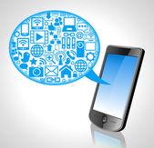 Cloud communication — Stock Vector
