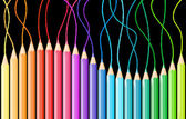 Colored pencils — Stockvector