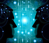 Communication between man — Stock Vector