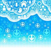 Communication cloud — Stock Vector
