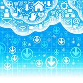 связь облако — Cтоковый вектор