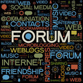 Forum backgrounds with the words — Stock Vector
